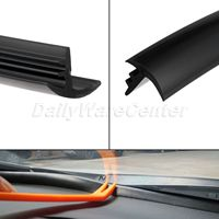 1 6m Silicone Rubber Noise Insulation Soundproof Dustproof Sealing Strips Trim For Auto Car SUV MPV