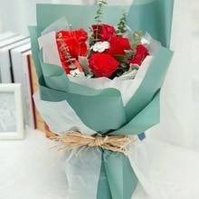 Корейская Цветочная Водонепроницаемая оберточная бумага упаковка подарочная упаковка сплошной цвет флористическая Упаковка Бумажные цветы букет поставки 20шт