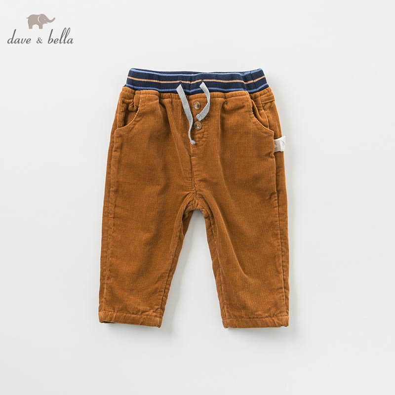 DB9224 dave bella automne bébé garçons pantalon enfants pleine longueur pantalons infantile en bas âge pantalon