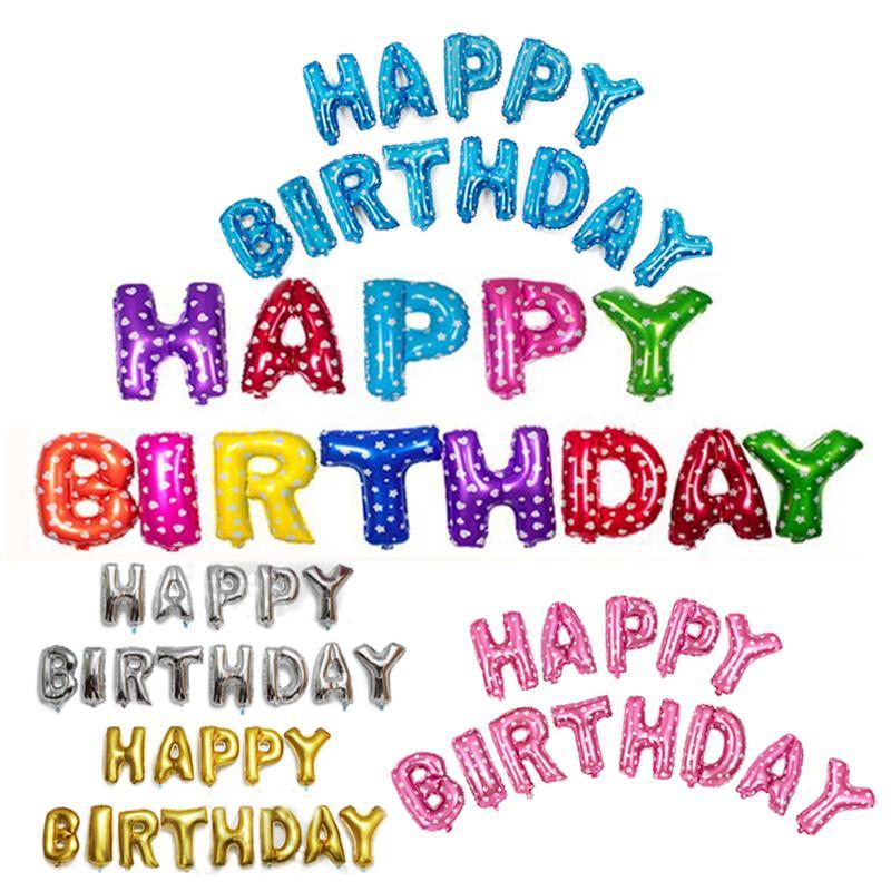 16inch  Foil Balloons HAPPY BIRTHDAY Balloons Happy Birthday Alphabet Helium Bal