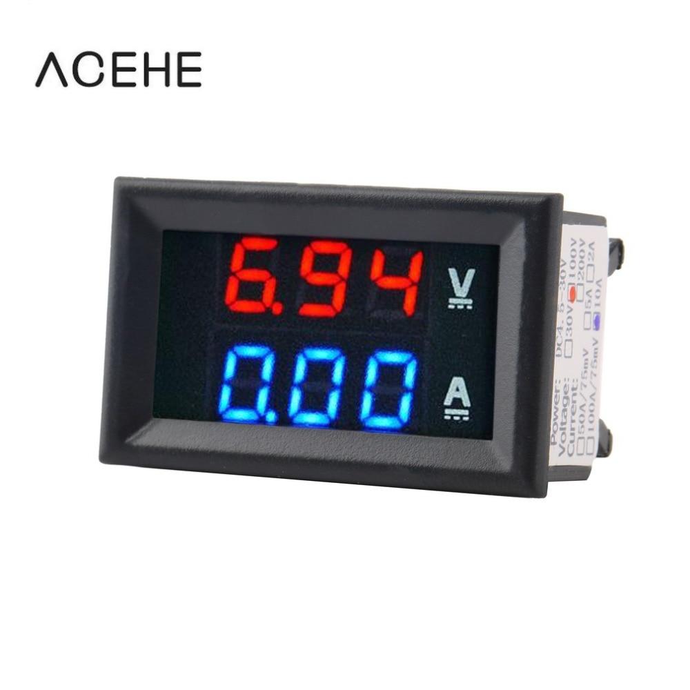 Strumenti di misura amperometro voltmetro DC 100V 10A di alta - Strumenti di misura - Fotografia 1