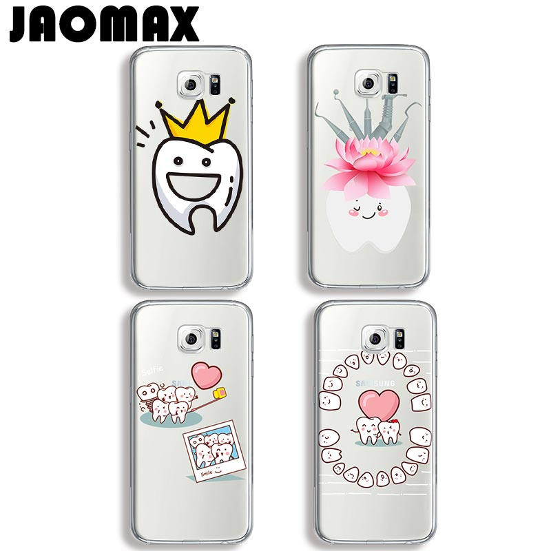 Straightforward Jaomax Love Heart Queen Teeth Doctor Tooth Silicone Case For Samsung Galaxy J7 Note 8 3 4 5 J3 J5 A3 A5 Transparent Phone Cover Attractive And Durable Half-wrapped Case