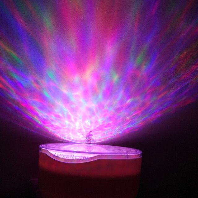 Amazing Romantic Aurora Master Projector Colorful LED Relaxing Ocean Wave Projector Pot with Speaker US-plug Power Adapter Luces