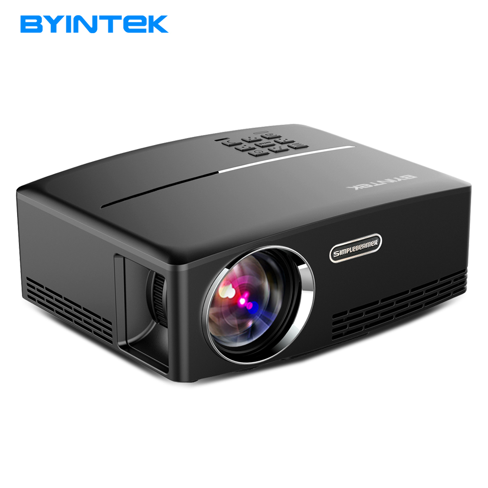 BYINTEK Projector GP80UP for Home Theater,1800 Lumens, HDMI Support Full HD 1080P (Optional Android 6  Version Support 4K Video tv home theater led projector support full hd 1080p video media player hdmi lcd beamer x7 mini projector 1000 lumens