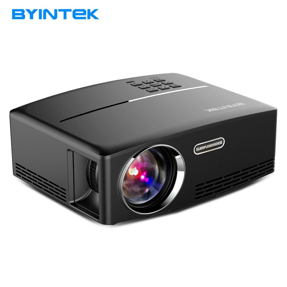 Byintek проектор gp80up для дома Театр, 1800 люмен, HDMI Поддержка Full HD 1080 P (опционально Android 6 версии Поддержка 4 К видео