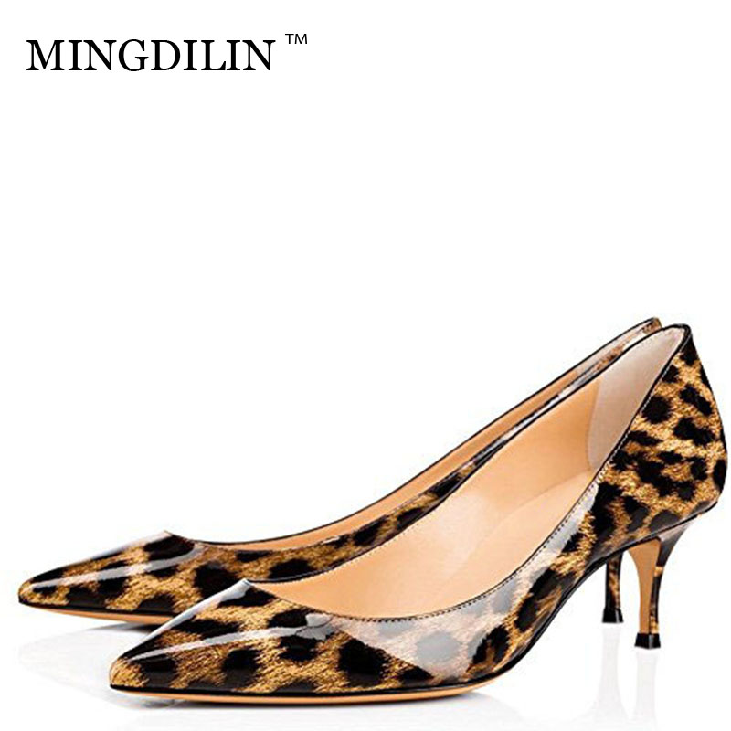 MINGDILIN Sexy Women's High Heels Shoes Plus Size LeopardPrin Woman Heels Bridal Shoes White Wedding Party Pumps Stiletto 2018 cocoafoal woman green high heels shoes plus size 33 43 sexy stiletto red wedding shoes genuine leather pointed toe pumps 2018