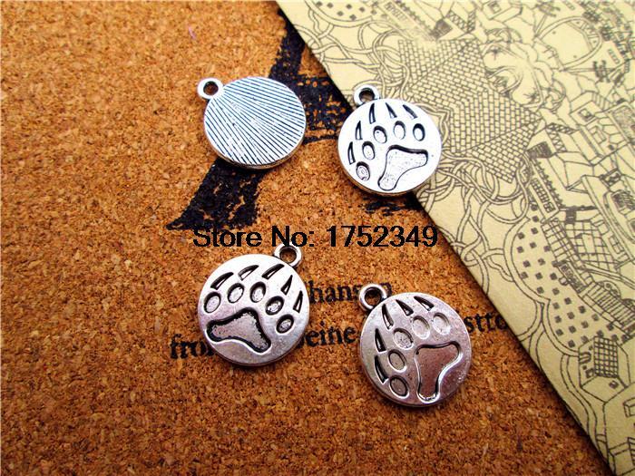 20pcs--Bear Claw Charms Antique Tibetan silver Bear Paw pendants 18x15mm