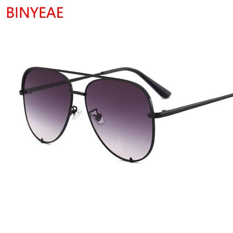 New black sunglasses women's brand designer fashion ladies sun glasses for women pilot 2018 luxury shades lunettes femme UV400 6