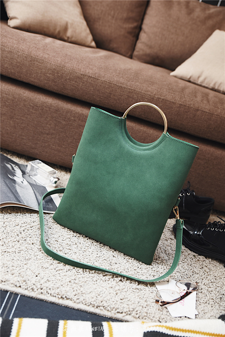 Casual Women Tote Bag 2 Pcs Set Folding Envelope Clutches Faux Suede Shoulder Bag Lady Hand Bag Black Red Shopper Handbag Purses 14