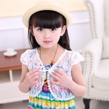 2019 Children Kid baby girl clothes Bolero Jacket Wedding Short Outerwear Summer Lace Shawl Coat children clothes Dropshipping(China)