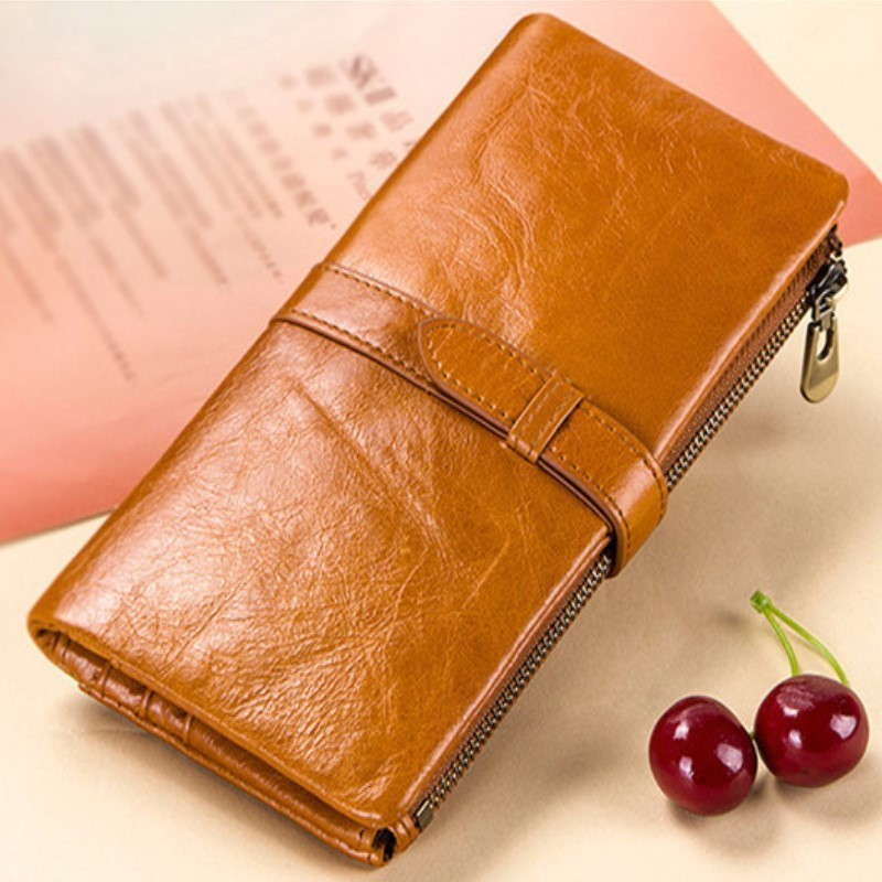 2019 New Women's Wallet Women Wallets Made Of Genuine Leather Female Long Wallet For Phone/cards Money Bags Lady Wallets Purse