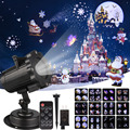 12 узоров Рождественский лазерный проектор анимационный эффект IP65 Крытый/Открытый Хэллоуин проектор Снежинка/Снеговик лазерный светильник