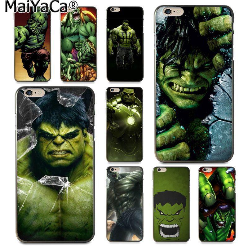 MaiYaCa Marvel Comic Superhero Hulk Pattern Luxury Accessories Shell Original Case for Apple iPhone 8 7 6 6S Plus X 5 5S SE 5C