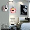 3 W led Rodada Criativo Limpar LED Acrílico LEVOU Lâmpada de Parede luz Para A Decoração Home parede luzes do quarto em forma redonda luz IY121653