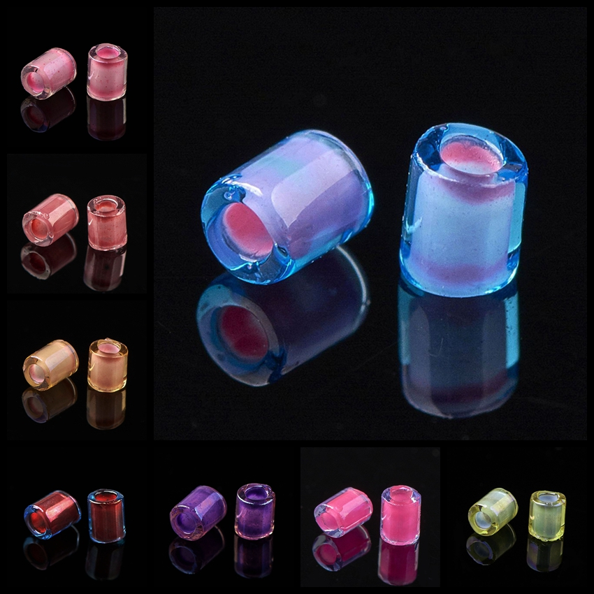 10g Inside Color <font><b>TOHO</b></font> Round Hole Transparent Glass Bugle <font><b>Beads</b></font> for Diy Jewelry Making Findings Dyed Hole: 1mm,about 600pcs image