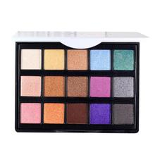 POPFEEL 15 Color Color Glitter Eyeshadow Make Up Palette Matte Pigment Makeup Nude Eye Shadow Shimmer Cosmetics Maquillaje Z3