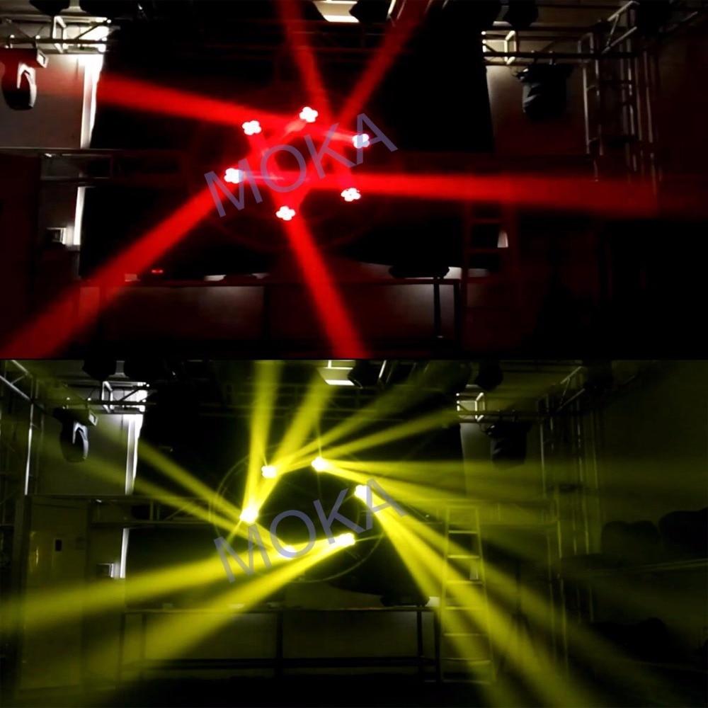 Paquete de 4 unids/lote de caja de Camino para 130w led 4 en 1 DMX mini Luz de cabeza de haz móvil RGBW luz para música - 2