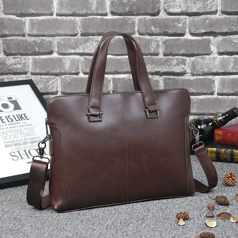 Ipad bag handbags male vertical section business briefcase men bag Korean trendy men crazy horse bag Messenger bag 2016 new new 2016 men s shoulder bag man bag portable diagonal cross section korean version of casual travel bag crazy horse