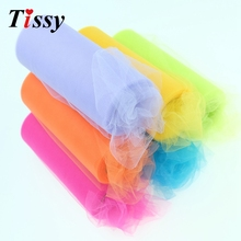 New!(22m/roll)15cm Crystal Tulle Plum Organza Roll Sheer Gauze Element Table Runner&Wedding Birthday Christmas Decorations(China)