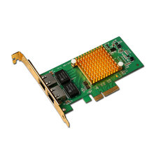 New I350-T2 PCI-E 4X Server Dual RJ45 Port Gigabit Ethernet Intel i350t2 1000Mbps Network Card