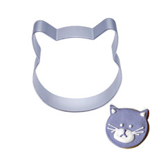 Biscuit Mold Cookie-Cutters Baking-Tools Pastry-Decorating Cat-Shape Cute DIY Aluminum-Alloy