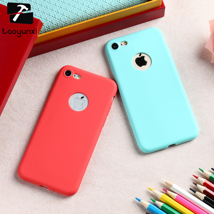 TAOYUNXI Case For iPhone 6S 6 7 5 5S 55S 66S Cases Back Cover For iPhone 6 6S 7 Plus Case Silicon Covers For iPhone SE 5SE 6C 6G ...