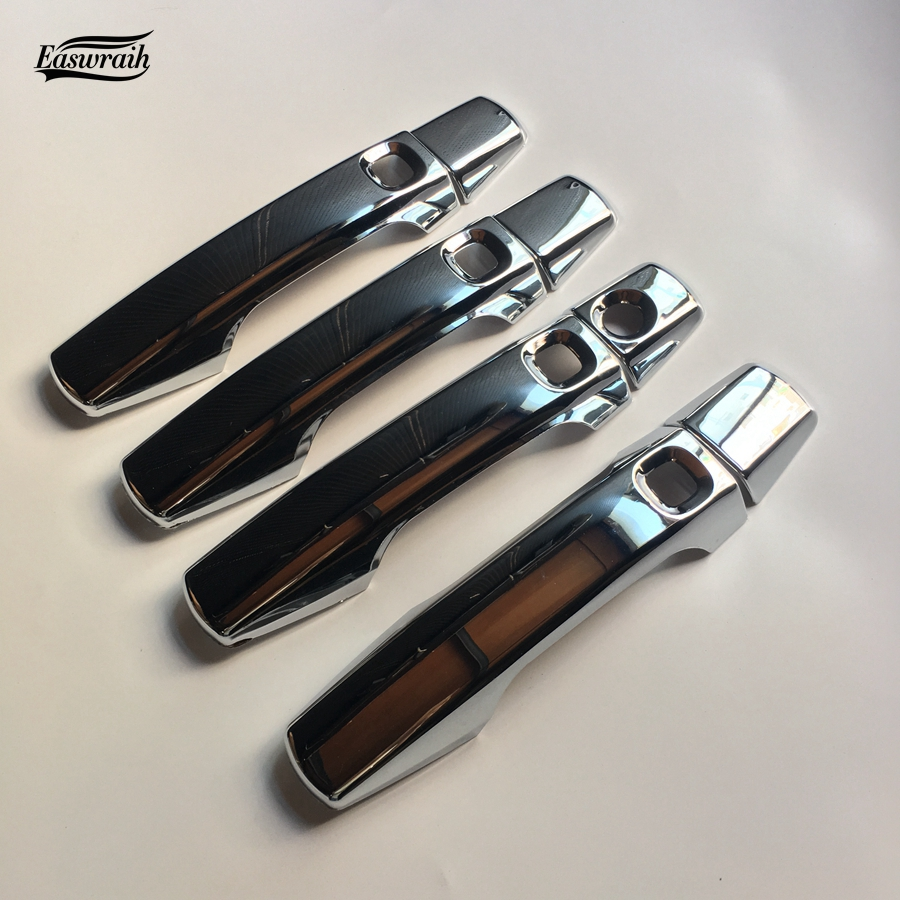 High Quality Gift Auto ABS Chromed Door Handle Cover Trim Car font b Exteriors b font