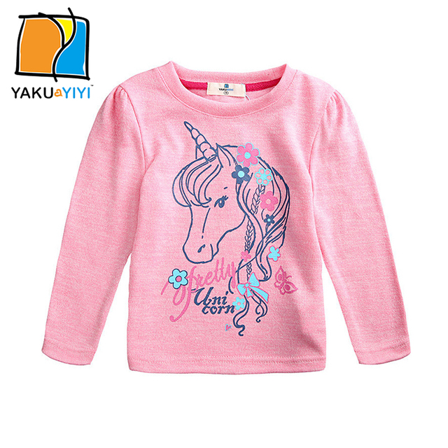 ae40678bec8d YAKUYIYI Brand New Summer Girls T shirt Lovely Unicorn Print ...