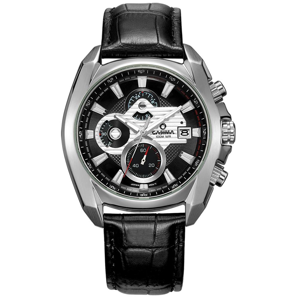 Prix pour Marque de luxe sport montres hommes quartz wst montre De Mode lumineux Relogio Masculino étanche 100 m CASIMA #8884