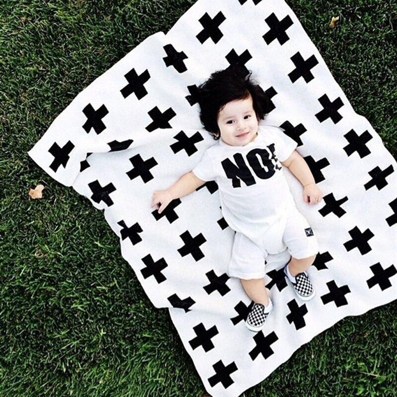 Livraison gratuite 2016New INS offres spéciales couverture en tricot croisé bébé coton couette serviette couvertures douces de haute qualité 90*110 cm b1TRQ0217