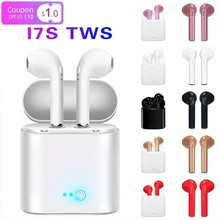 Tws I7 Wireless Bluetooth Earphones In Ear Headset Stereo Bass Invisible Single/Pair For all smart phone with charging box