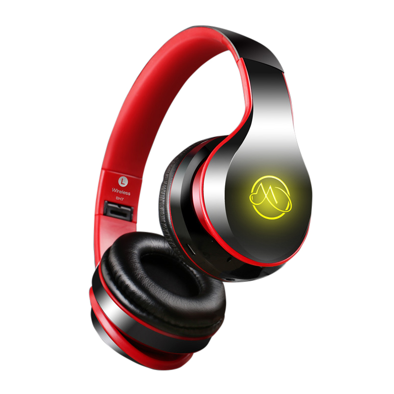 Bluetooth Wired PC Gamer Stereo Hifi Gaming Portable Headphones With Microphone Dazzle Lights Glow Game Music Headset  4-6H itsyh music headphone with microphone game headphones 1 5mm tpe wired bass headset stereo earphones foldable portable tw 811