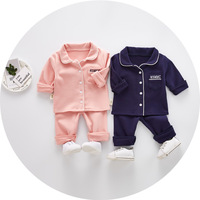 Pajamas Sets Kids Girls Boys 2018 New Children Clothing Baby Boy Girl Pajama 2pcs Grey Pink