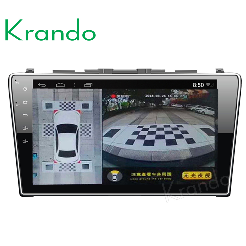 car Krando 1080P Super HD 360 Degree bird View System Panoramic View All round Camera with DVR driving Surround recoder wohnmobil kamera 360 app