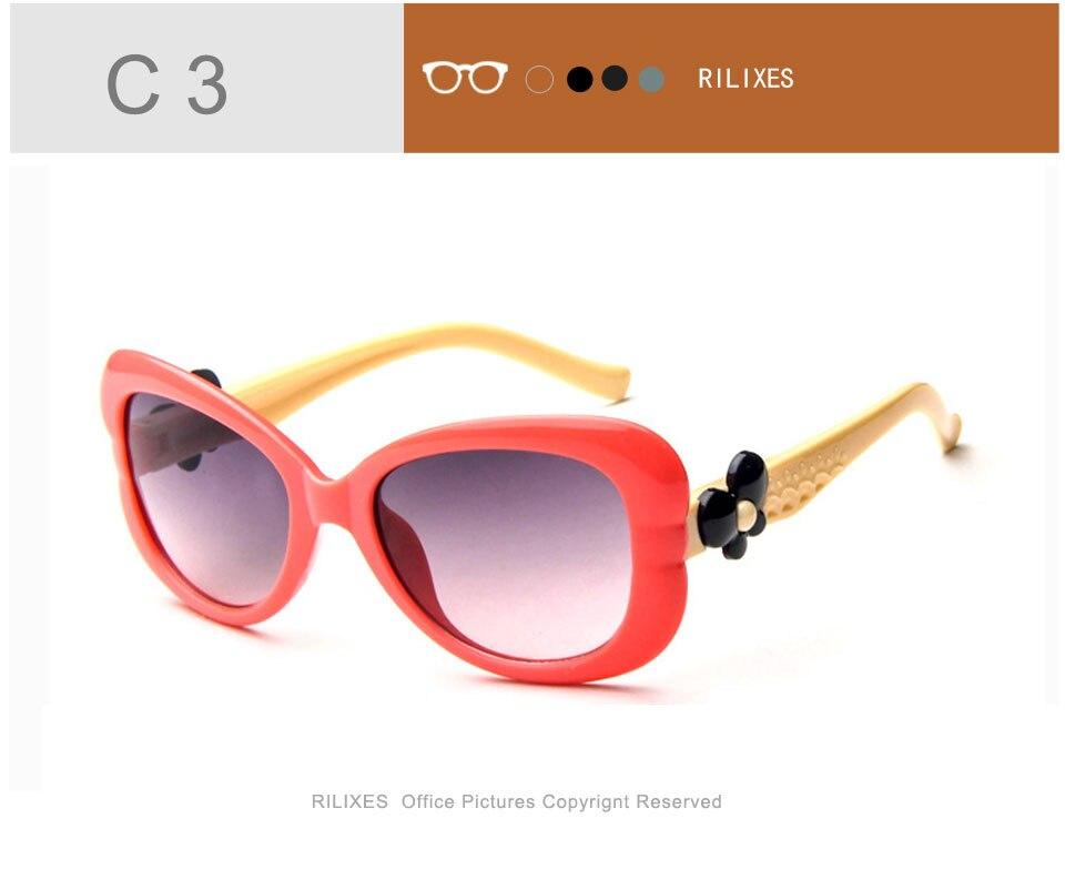 42eda549d2 RILIXES 2018 encantadora niños gafas de sol de marca bebé niñas ...