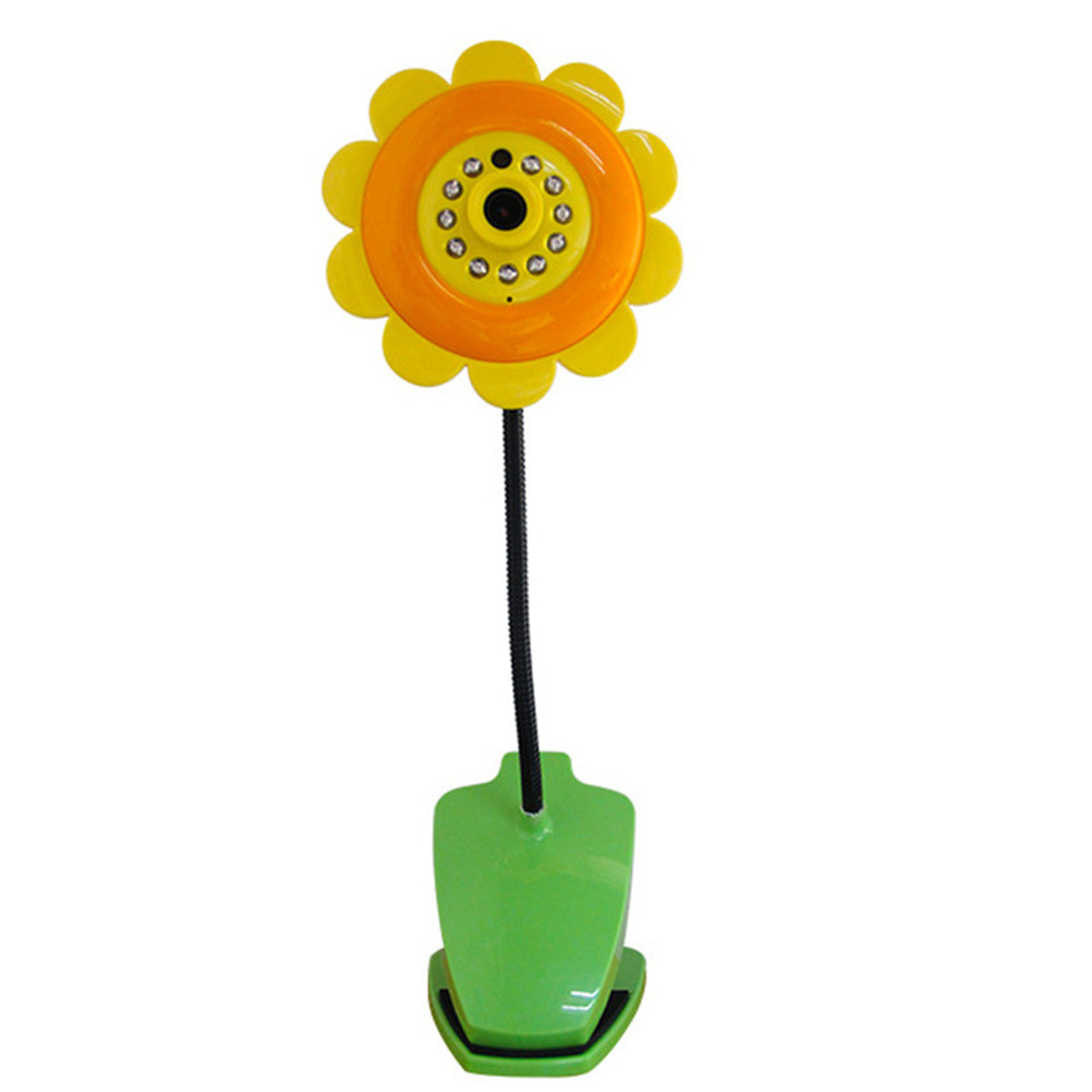 New V380 Sun Flower Baby Monitors Wireless Cartoon Newborn Baby Mobile Health Video Radio Babysitter Wifi Camera Baby Monitor интуиция возможности и опасности