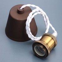 E27 E26 Ceiling Rose Pendant Lamp Holder Socket Copper Retro Vintage Edison Incandescent Light Bulb Lamp