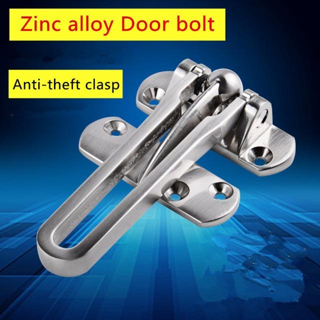 Zinc Alloy Hasp Latch Door Chain Anti Theft Clasp Window Cabinet