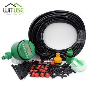 Image 2 - New Set Timer 5m/15m/25m DIY Drip Irrigation System Automatic Plant Self Watering Garden Hose Micro Drip Garden Watering System