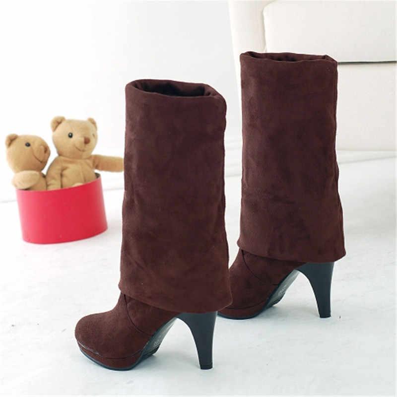 MORAZORA 2020 yeni varış uyluk yüksek çizmeler kadın yuvarlak ayak yüksek topuklu uzun çizmeler sonbahar kış ayakkabı bayanlar üzerinde diz çizmeler