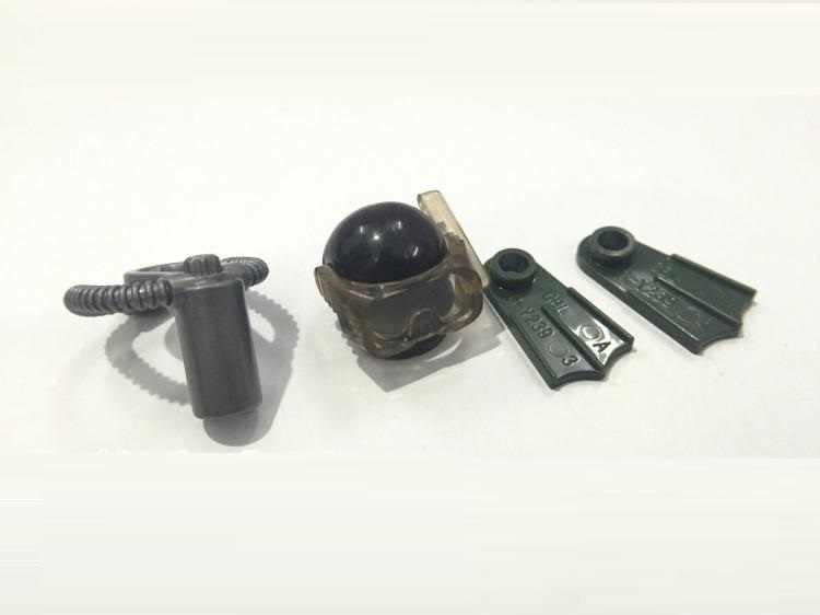 Accesorios de buzo DIY ejército Swat policía militar accesorios para arma Playmobil ciudad figuras piezas originales bloques modelo Mini juguete
