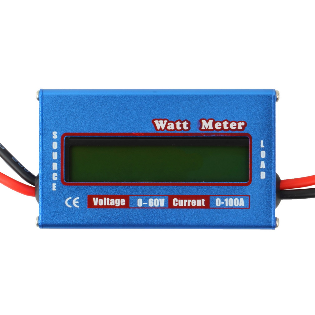 Digital LCD Screen 100A 60V DC RC Helicopter Airplane Battery Power Analyzer Watt Meter Balancer FOR RC Hobby