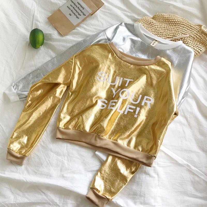 Collezione Qui Signore Felpe Impermeabile Idrorepellente Swearshirt Donne Primavera Oro Lucido Delle Donne Felpa Stampata Hip Hop Locale Notturno Di Usura Sangue Nutriente E Regolazione Dello Spirito