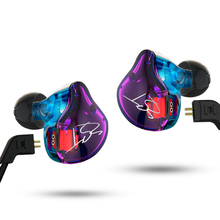 Unique XY1134 Colourful In-Ear Earphone Hybrid Headset HIFI Bass Noise Cancelling Earbud With/With out Microphone Changed Cable