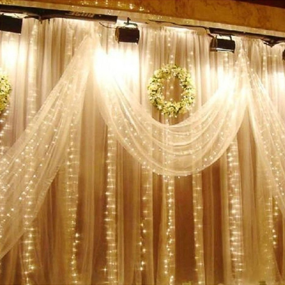 все цены на Remote LED Curtain String Light 6x3m 600Leds Indoor Drop LED Fairy Light for Party Garden Stage Outdoor Decorative Light онлайн