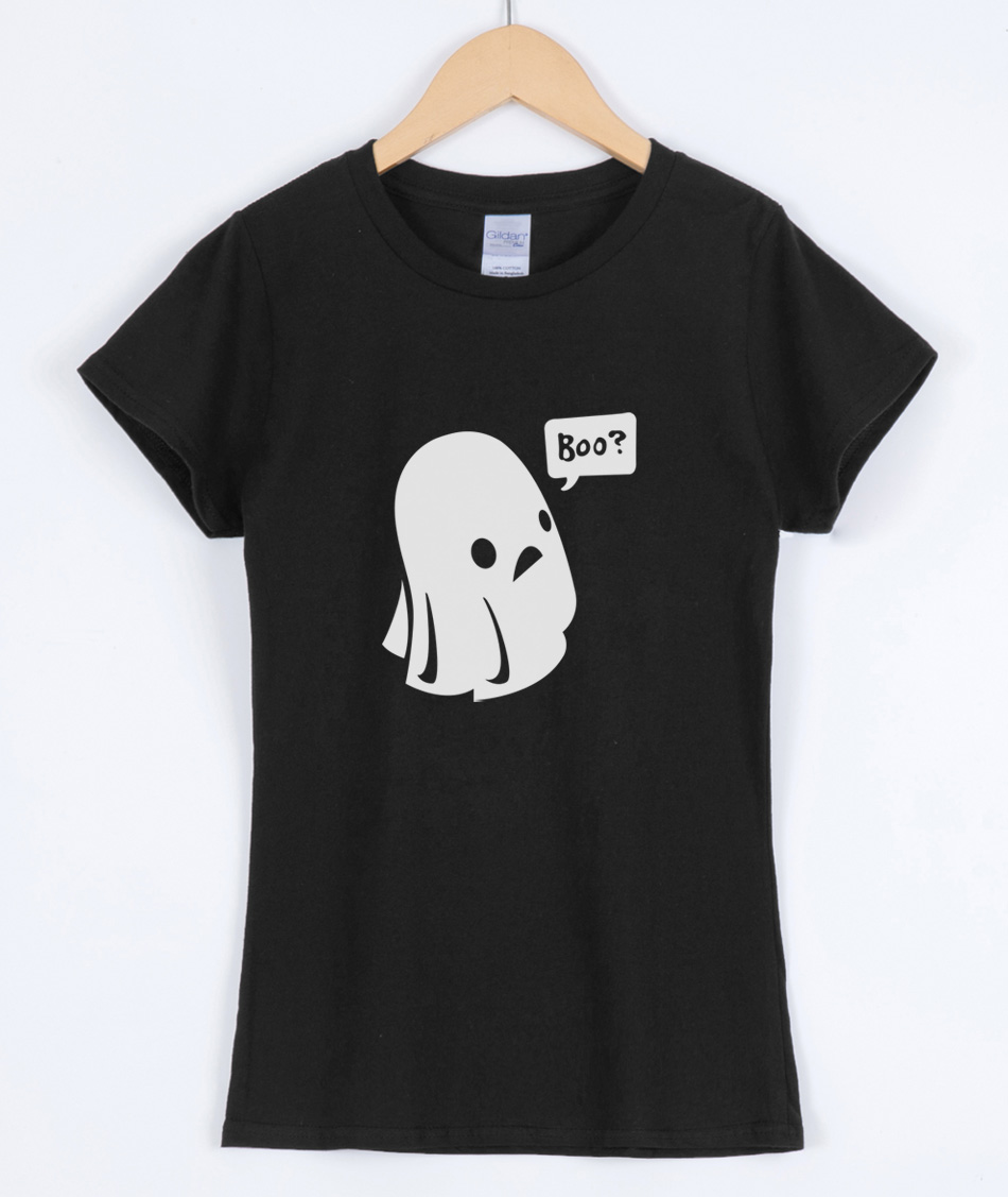 2019 Summer Cute Ghost Boo Halloween Print Women T-shirts Cotton Casual Funny Shirt For Lady Top Harajuku Hipster Female T-shirt