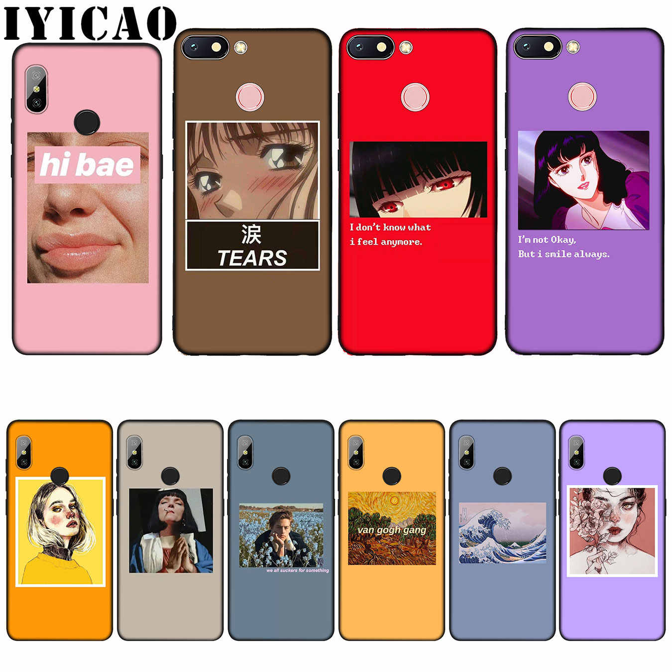 IYICAO Great art aesthetic van Gogh Mona Lisa David Silicone Soft Case for Xiaomi Redmi 6A 5A Note 7 4 4X 5 Plus 6 Pro Cover