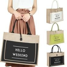 NoEnName Women Ladies  Large Summer Tote Shopping Cotton Linen Shoulder Bags Heavy Duty Reusable Plain Handbags