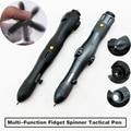 2019 New Multi-function Self Defense Tactical Pen Fidget Spinner Emergency Glass Breaker Outdoor Survival EDC Tool Outdoor Camp