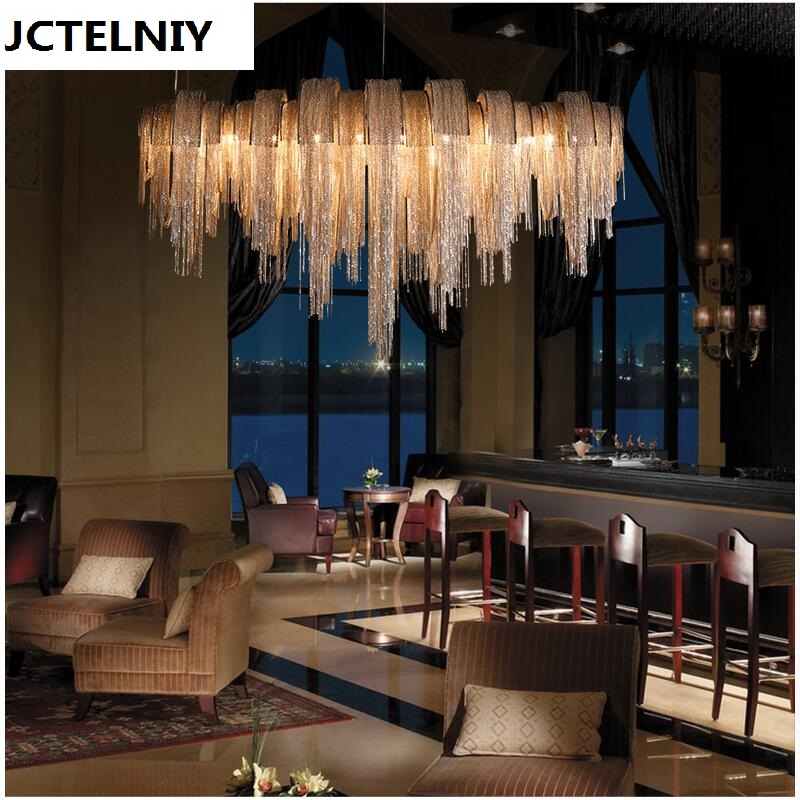 New design LED aluminum chandeliers luxury light